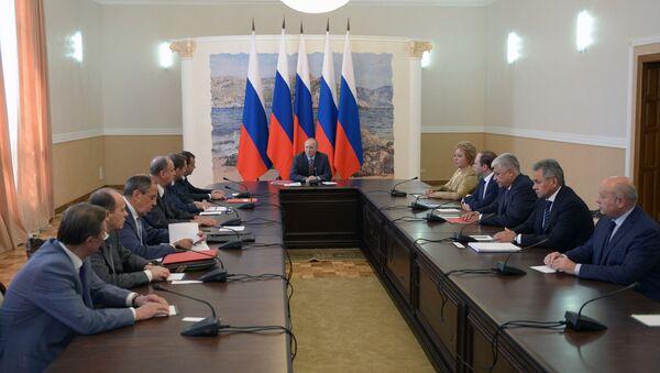 Sesja Rady Bezpieczeństwa Rosji na Krymie - Sputnik Polska