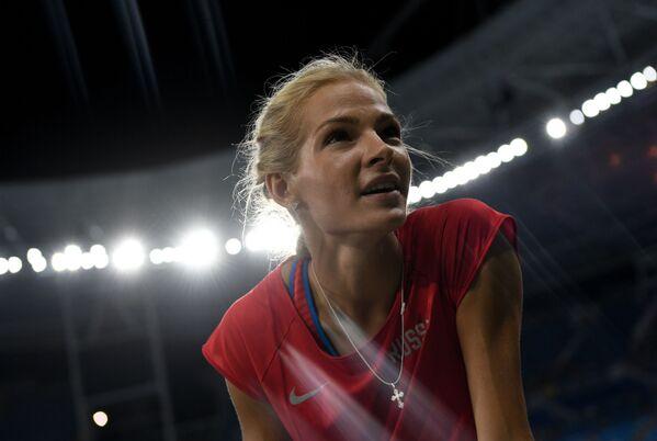 Rosyjska lekkoatletka Daria Kliszyna przed zawodami kwalifikacyjnymi w skoku w dal na lekkoatletycznym turnieju kobiet na XXXI letnich Igrzyskach Olimpijskich - Sputnik Polska