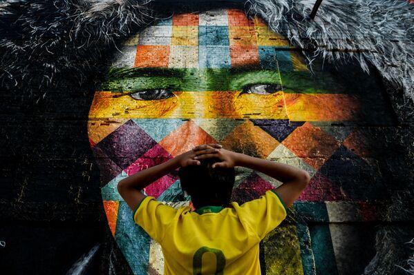 Graffiti brazylijskiego artysty Eduardo Kobra w Rio de Janeiro - Sputnik Polska