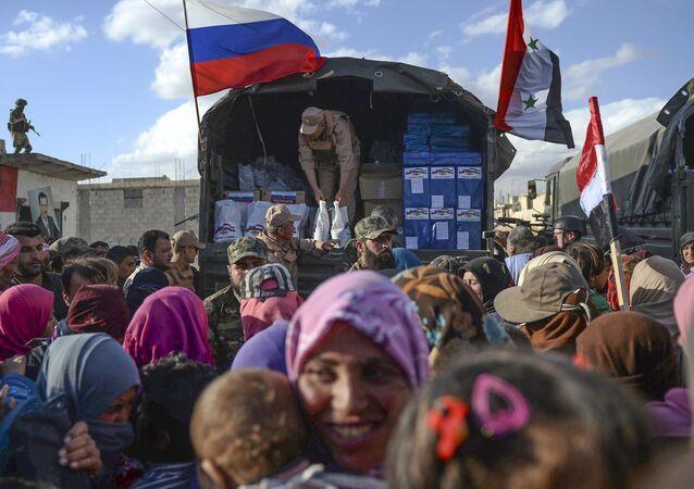 Rosja stała się pierwszym krajem na świecie, który zapewnił pomoc humanitarną ludności Syrii.