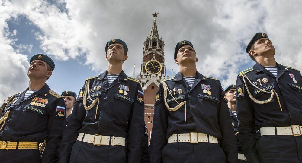 Żołnierze Wojsk Powietrznodesantowych Federacji Rosyjskiej