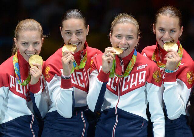 Rosyjskie szablistki, mistrzynie olimpijskie w turnieju drużynowym