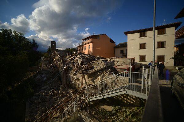 Siła tego trzęsienia ziemi była ogromna, niszczycielska. Ucierpiało wiele pobliskich miejscowości. - Sputnik Polska