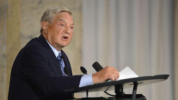 Amerykański miliarder George Soros podczas konferencji w Berlinie - Sputnik Polska