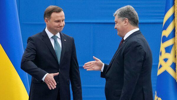 Petro Poroszenko i Andrzej Duda - Sputnik Polska