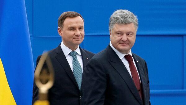 Prezydenci Andrzej Duda i Piotr Poroszenko - Sputnik Polska
