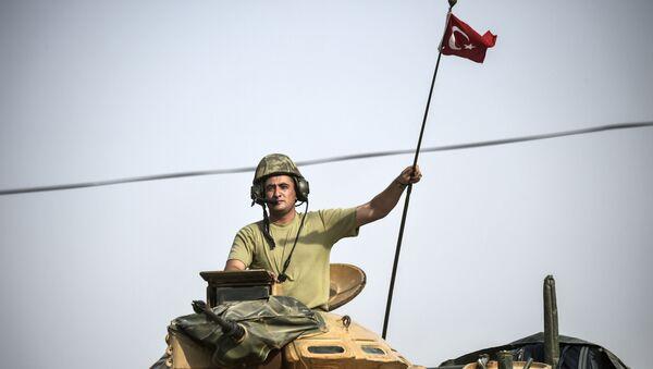 Żołnierz armii tureckiej w Syrii - Sputnik Polska