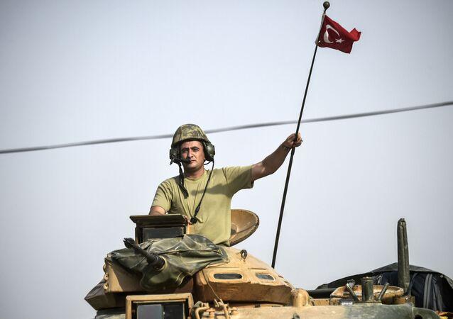 Żołnierz armii tureckiej w Syrii