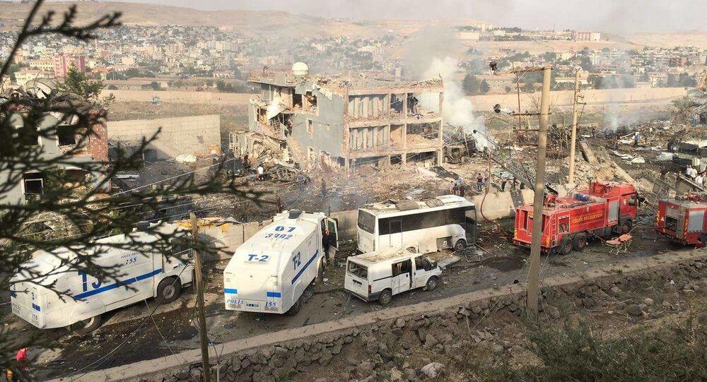 Wybuch bomby na posterunku policji w Turcji