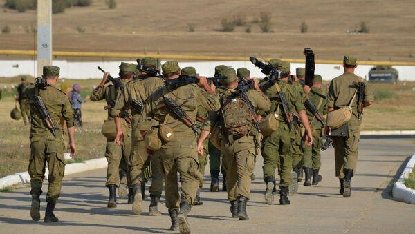 Taktyczne szkolenia Brygada Strzelców Ministerstwa Obrony Rosji w Dagestanie - Sputnik Polska