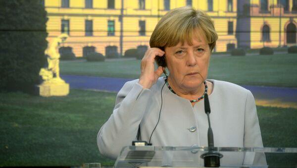 Angela Merkel w Pradze - Sputnik Polska