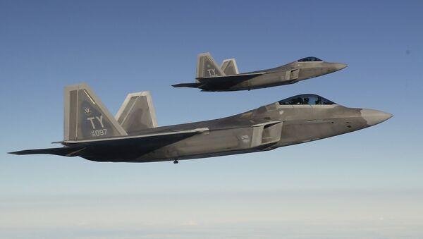 Amerykańskie myśliwce F-22 - Sputnik Polska