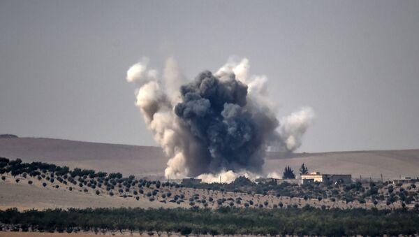 Naloty tureckich sił powietrznych w Syrii - Sputnik Polska