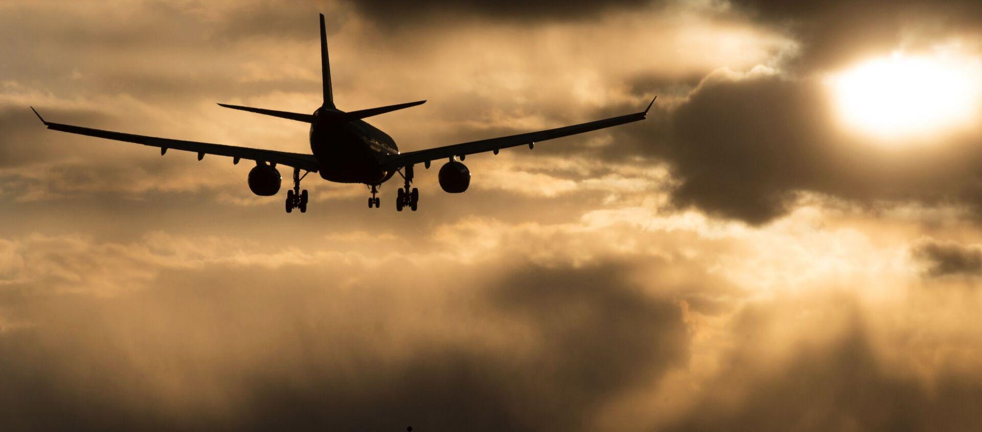 Samolot linii lotniczych Aeroflot zniża się do lądowania na lotnisku Szeremietiewo w Moskwie - Sputnik Polska, 1920, 11.05.2021