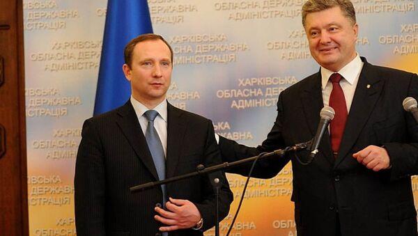 Szef administracji prezydenta Ukrainy Igor Rajnin i prezydent Petro Poroszenko - Sputnik Polska