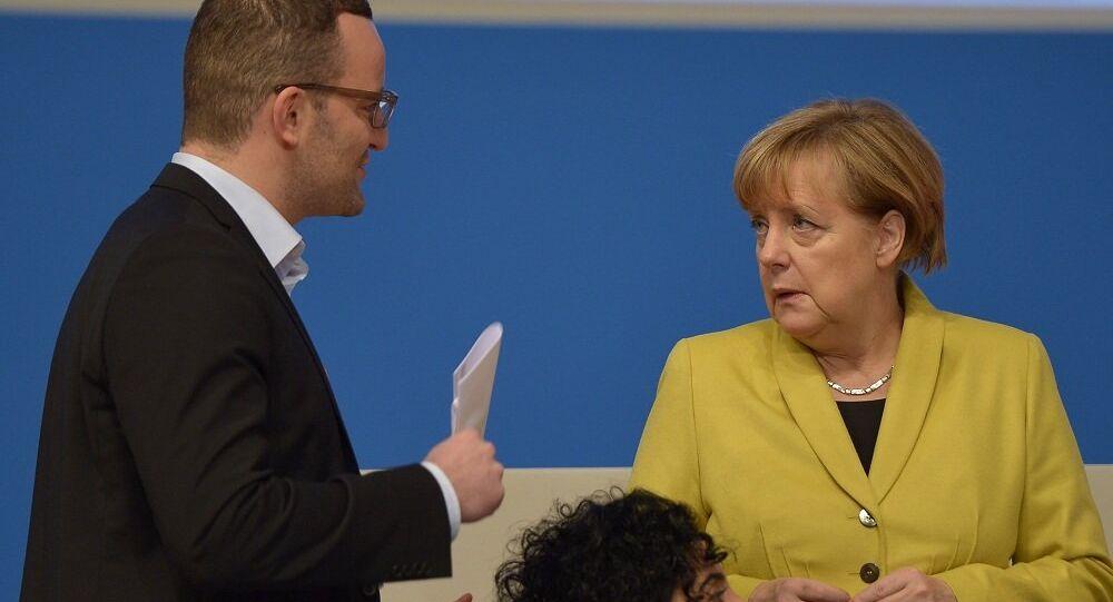 Angela Merkel i Jens Spahn