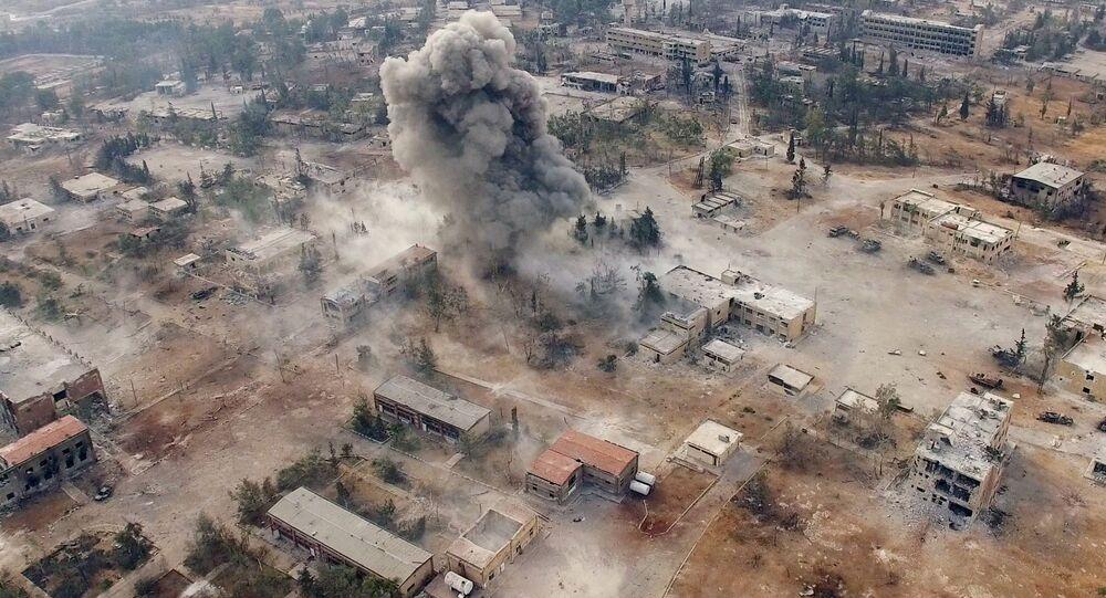 Południowy zachód miasta Aleppo w Syrii
