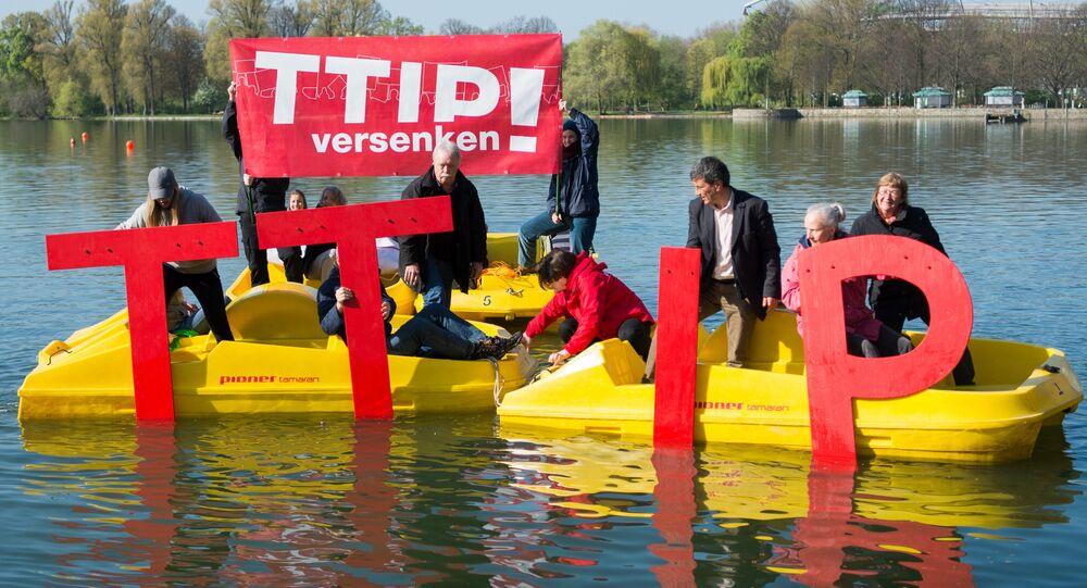 Akcja przeciwko wprowadzeniu TTIP - Hanover, kwiecień 2016