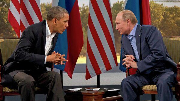 Barack Obama i Władimir Putin - Sputnik Polska