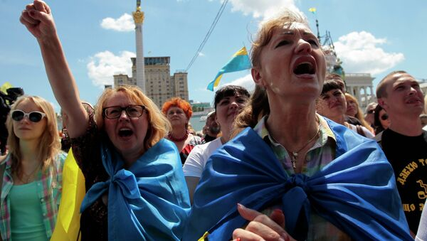 Protesty w centrum Kijowa - Sputnik Polska