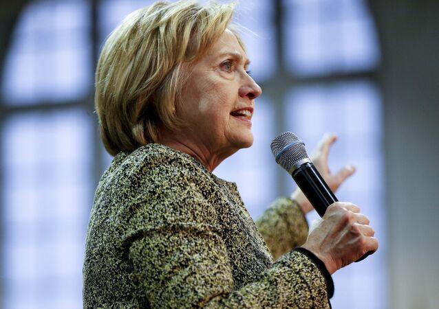Kandydatka Demokratów na prezydenta Stanów Zjednoczonych Hillary Clinton