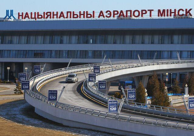 Lotnisko w Mińsku.