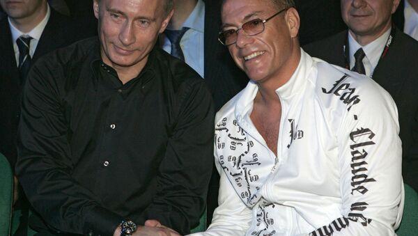 Władimir Putin i Jean-Claude Van Damme - Sputnik Polska