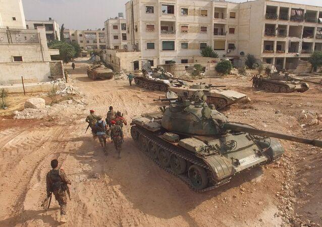 Południowo-zachodnia część Aleppo, Syria