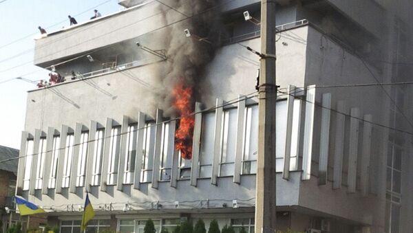 Pożar w budynku kanału telewizyjnego Inter w Kijowie - Sputnik Polska