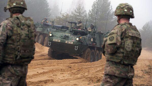 Wspólne szkolenia wojskowe na Łotwie - Sputnik Polska