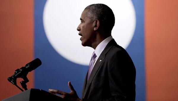 Prezydent USA Barack Obama przemawia podczas wizyty w Laosie - Sputnik Polska