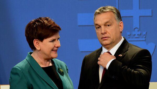 Viktor Orban i Beata Szydło - Sputnik Polska