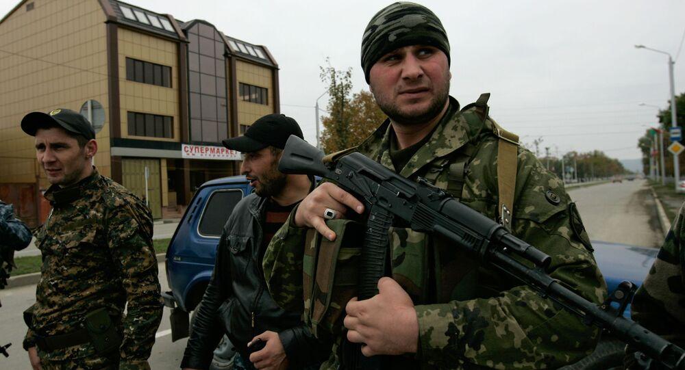 Operacja specjalna pod budynkiem parlamentu Republiki Czeczeńskiej
