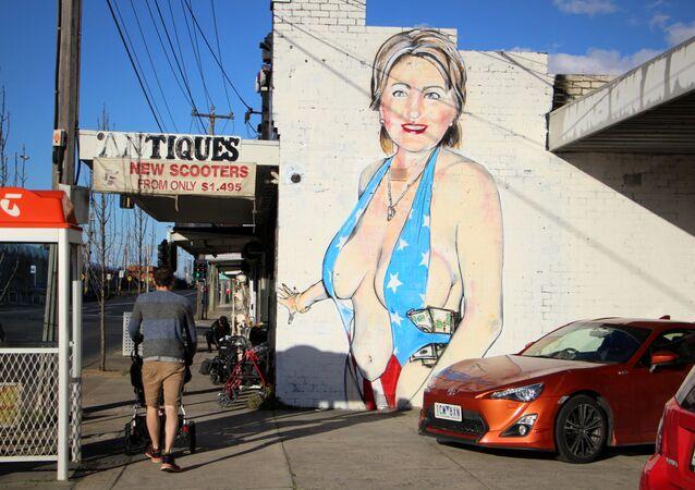Graffiti przedstawiające Hillary Clinton
