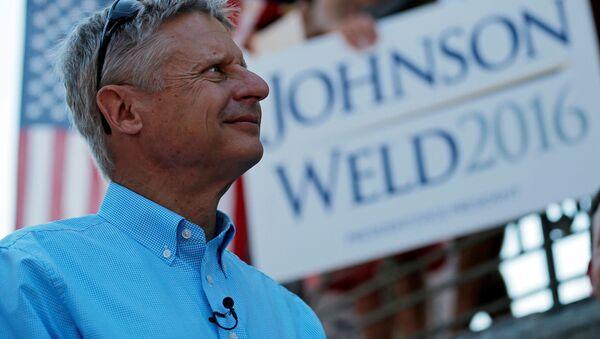 Kandydat na prezydenta USA z ramienia Partii Libertariańskiej Gary Johnson - Sputnik Polska