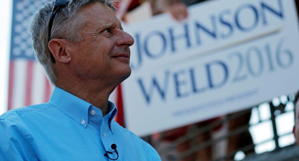 Kandydat na prezydenta USA z ramienia Partii Libertariańskiej Gary Johnson