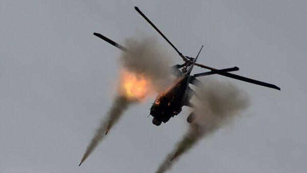 Śmigłowiec bojowy Ka-52, znany również pod kryptonimem Aligator, na forum Armia-2016 - Sputnik Polska