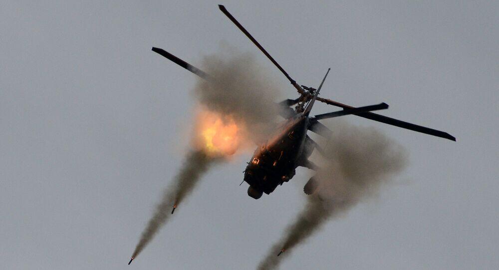 Śmigłowiec bojowy Ka-52, znany również pod kryptonimem Aligator, na forum Armia-2016