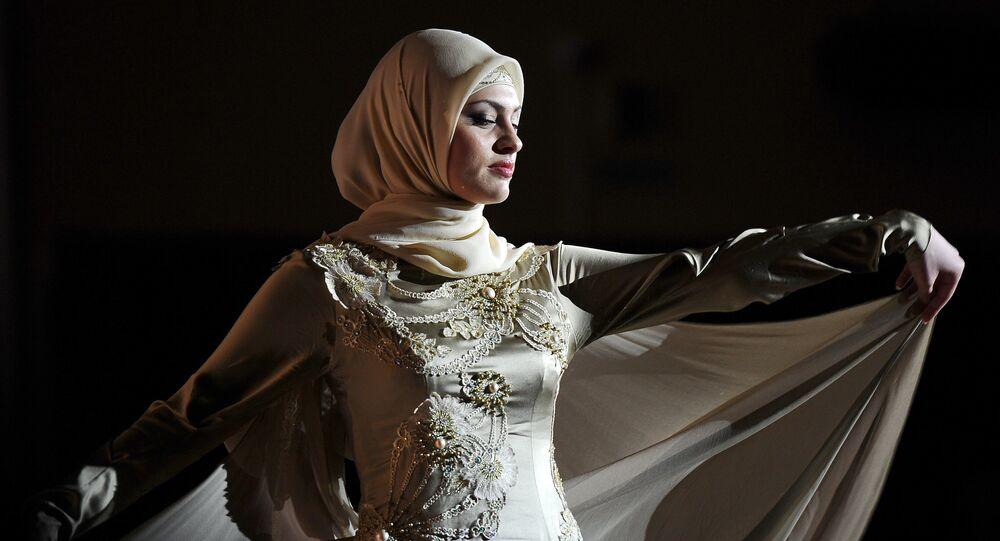 Pokaz mody w Groznym, Rosja