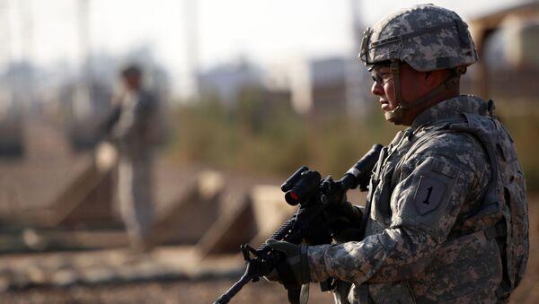 Amerykański żołnierz w Iraku. - Sputnik Polska