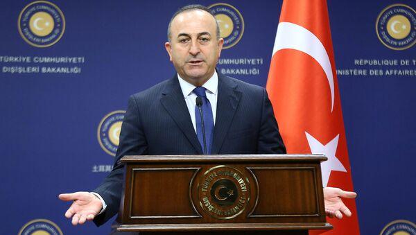 Minister spraw zagranicznych Turcji Mevlüt Çavuşoğlu w Ankarze - Sputnik Polska