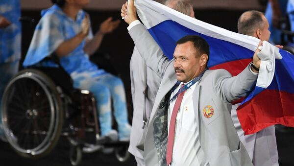 Rosyjska flaga. Paraolimpiada. Rio. - Sputnik Polska