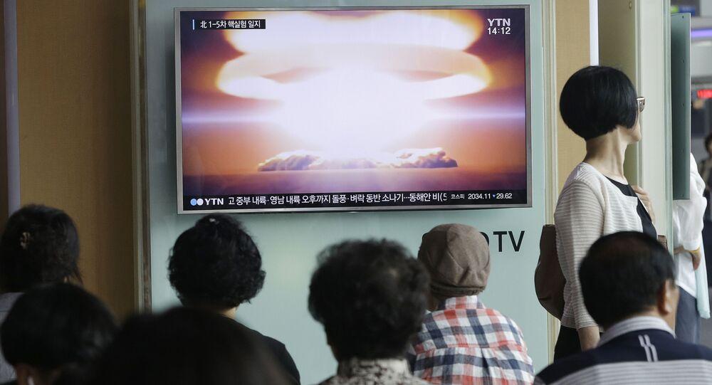 Południowokoreańskie wiadomości o przeprowadzeniu testów jądrowych w Korei Północnej