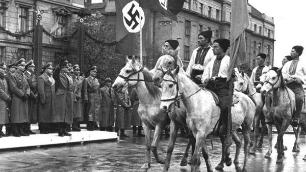 Parada ukraińskich nacjonalistów w Stanisławie, foto archiwalne - Sputnik Polska