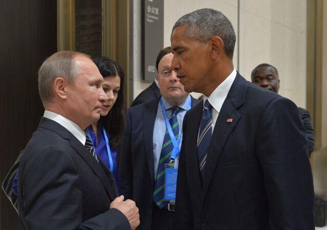 Władimir Putin i Barack Obama na szczycie G20