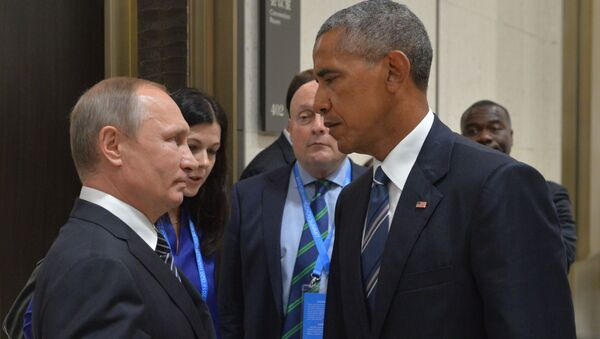 Władimir Putin i Barack Obama na szczycie G20 - Sputnik Polska