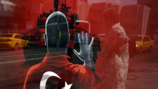 Plakat na jednym z placów w Stambule - Sputnik Polska