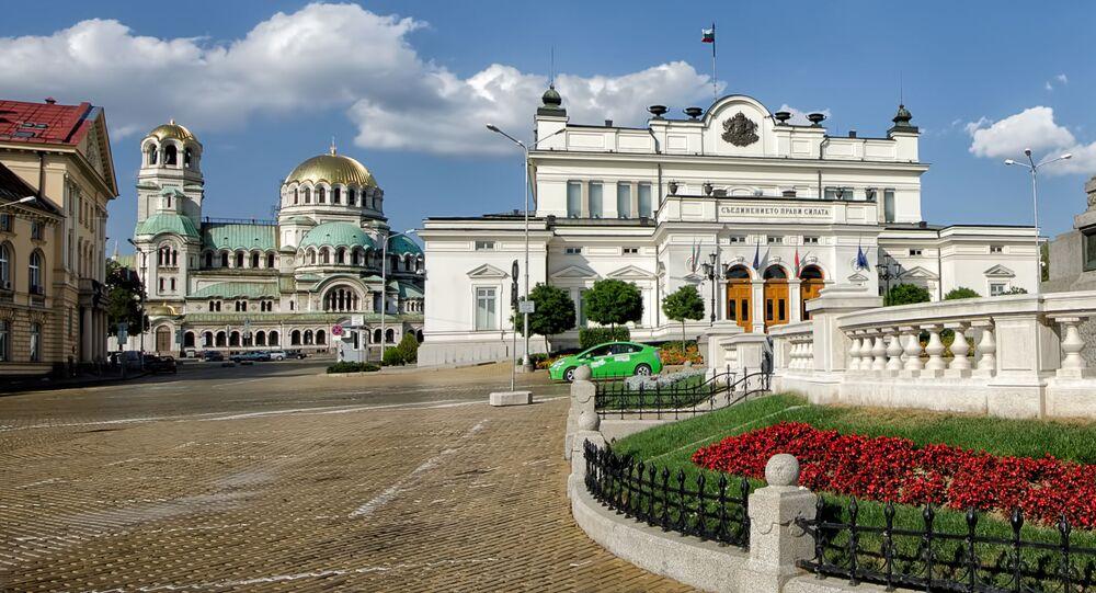 Pomnik Aleksandra II naprzeciwko parlamentu w Sofii, Bułgaria