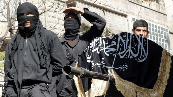 Członkowie organizacji terrorystycznej w Syrii - Sputnik Polska
