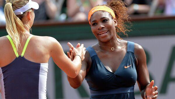 Serena Williams i  Maria Szarapowa - Sputnik Polska